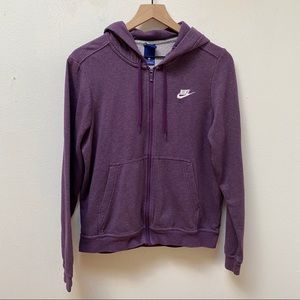 Nike Purple Full Zip Up Fleece Hoodie